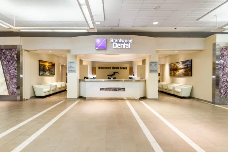Brentwood Dental Reception desk and entrance hall